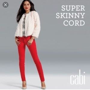 cabi super skinny red cord